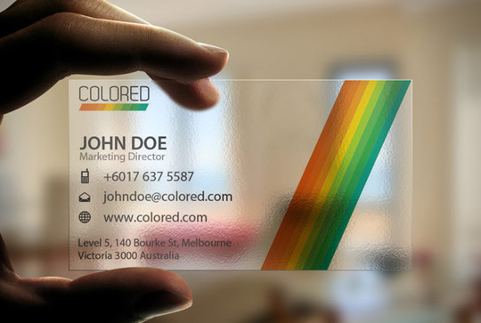 40 Creative Examples Of Transparent Business Cards 11