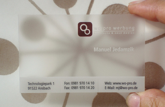40 Creative Examples Of Transparent Business Cards 13