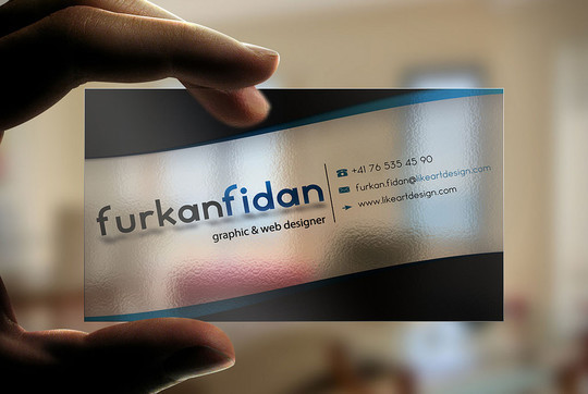 40 Creative Examples Of Transparent Business Cards 17