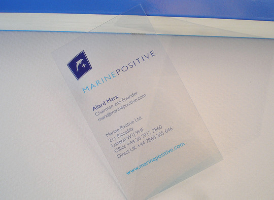 40 Creative Examples Of Transparent Business Cards 19