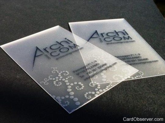 40 Creative Examples Of Transparent Business Cards 24