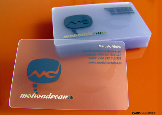 40 Creative Examples Of Transparent Business Cards 25