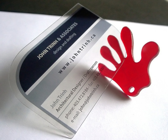 40 Creative Examples Of Transparent Business Cards 3
