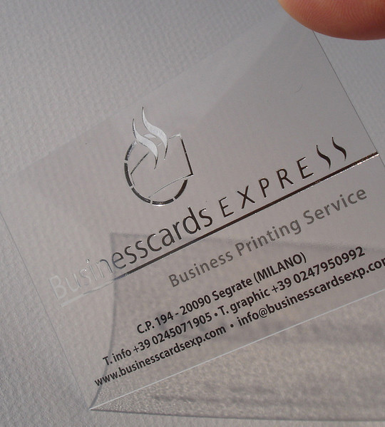 40 Creative Examples Of Transparent Business Cards 30