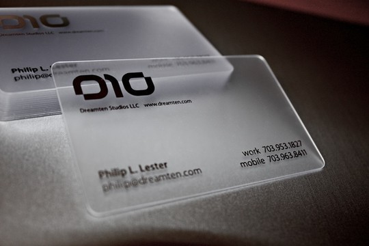 40 Creative Examples Of Transparent Business Cards 6