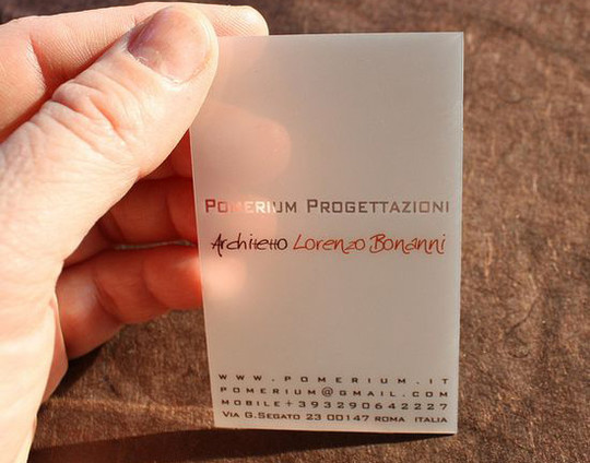 40 Creative Examples Of Transparent Business Cards 34