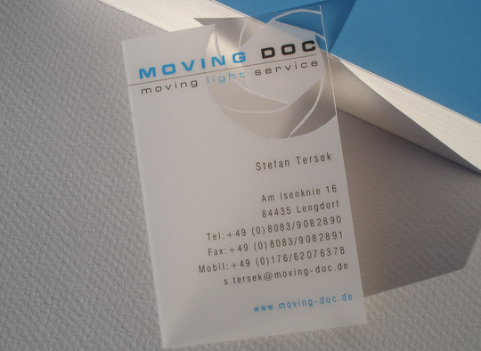 40 Creative Examples Of Transparent Business Cards 36