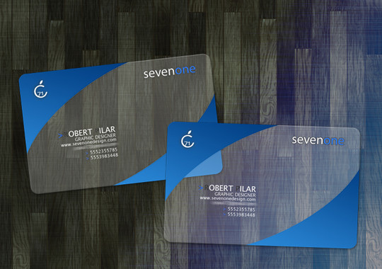 40 Creative Examples Of Transparent Business Cards 37