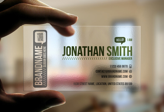 40 Creative Examples Of Transparent Business Cards 8