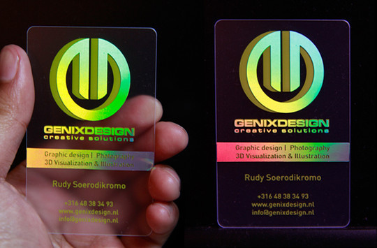 40 Creative Examples Of Transparent Business Cards 9