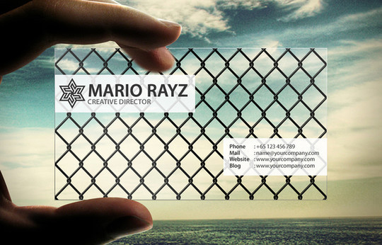 40 Creative Examples Of Transparent Business Cards 10