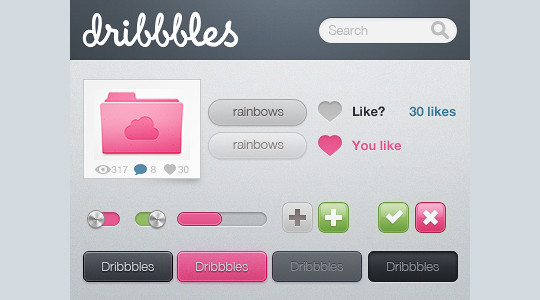50 Extremely Useful PSD Files From Dribbble 22
