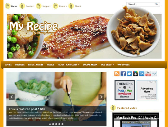 Ultimate Collection Of Free Wordpress Themes For Food And Recipe Blogs 13