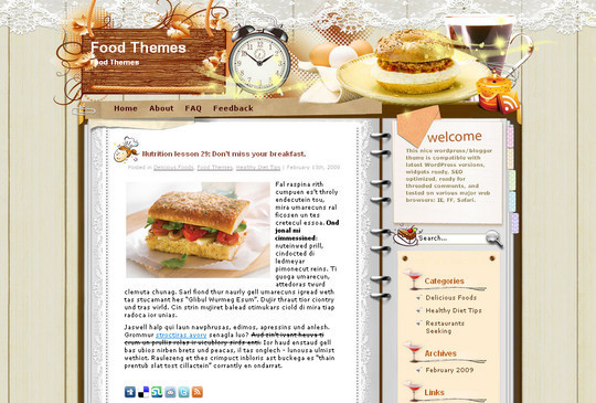Ultimate Collection Of Free Wordpress Themes For Food And Recipe Blogs 10