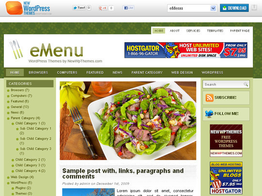 Ultimate Collection Of Free Wordpress Themes For Food And Recipe Blogs 11