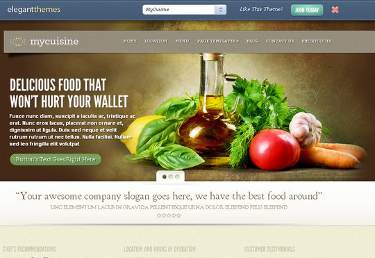 Ultimate Collection Of Free Wordpress Themes For Food And Recipe Blogs 14