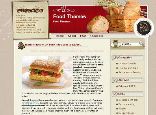 Ultimate Collection Of Free Wordpress Themes For Food And Recipe Blogs 15