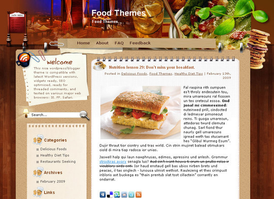 Ultimate Collection Of Free Wordpress Themes For Food And Recipe Blogs 4