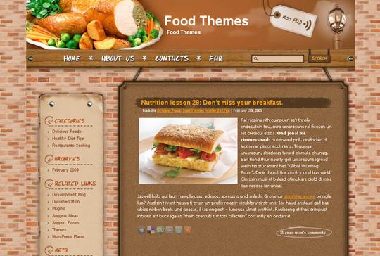 Ultimate Collection Of Free Wordpress Themes For Food And Recipe Blogs 20