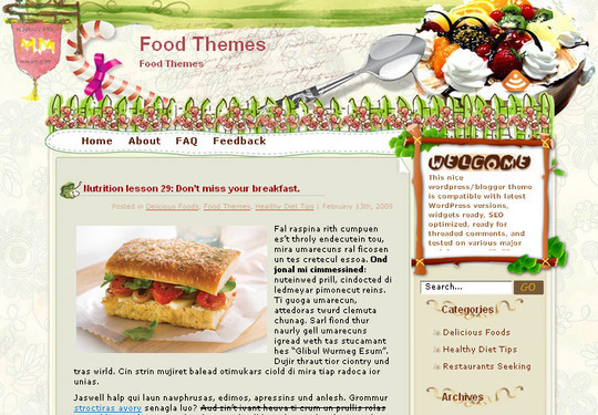 Ultimate Collection Of Free Wordpress Themes For Food And Recipe Blogs 25
