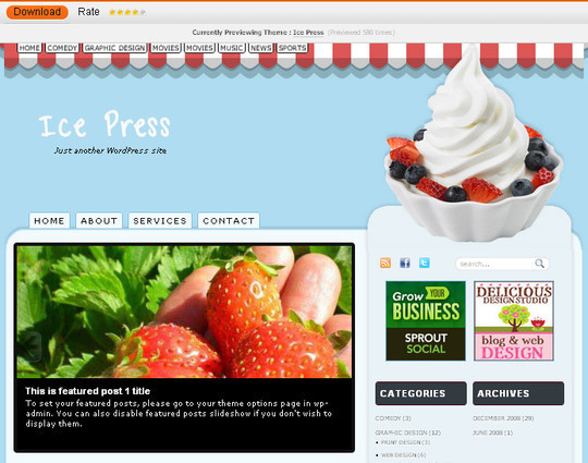 Ultimate Collection Of Free Wordpress Themes For Food And Recipe Blogs 26