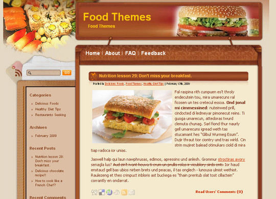 Ultimate Collection Of Free Wordpress Themes For Food And Recipe Blogs 28