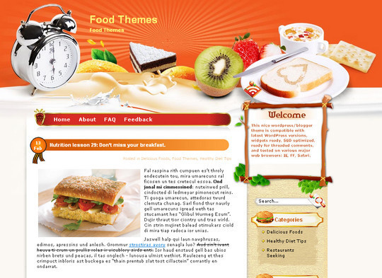 Ultimate Collection Of Free Wordpress Themes For Food And Recipe Blogs 3