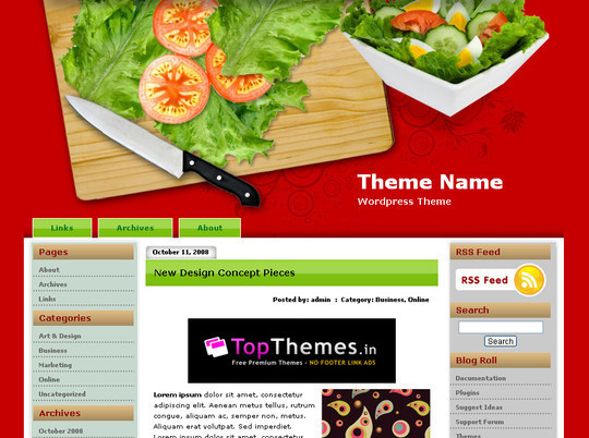 Ultimate Collection Of Free Wordpress Themes For Food And Recipe Blogs 8