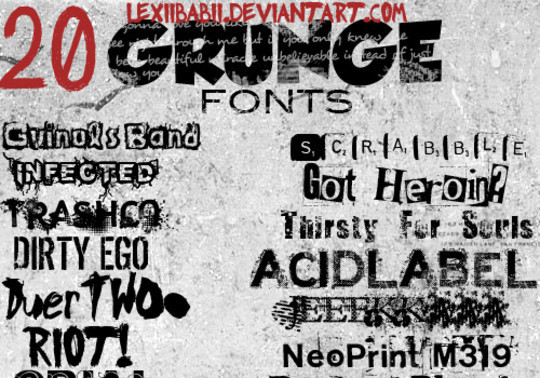 20 Creative Grunge Fonts To Download 18