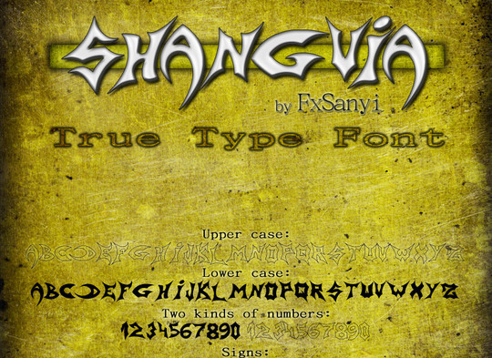 20 Creative Grunge Fonts To Download 8