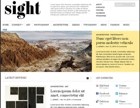 Less Is More: 40 Free, Minimal And Clean Wordpress Themes 10
