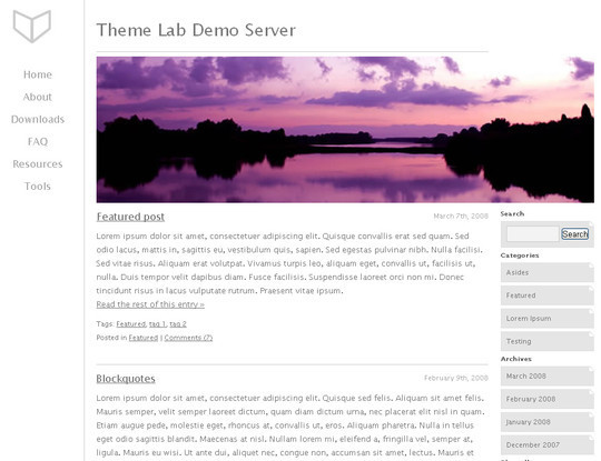 Less Is More: 40 Free, Minimal And Clean Wordpress Themes 17