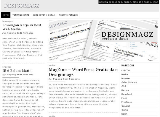Less Is More: 40 Free, Minimal And Clean Wordpress Themes 20