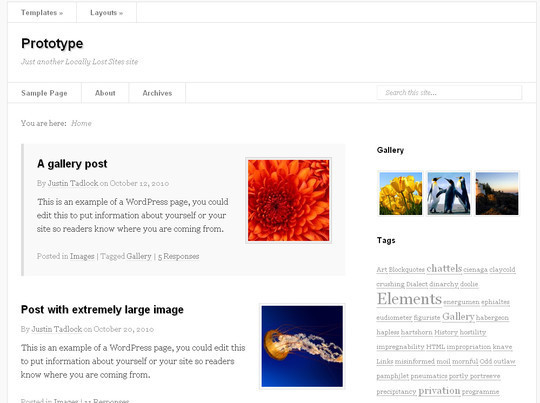 Less Is More: 40 Free, Minimal And Clean Wordpress Themes 22