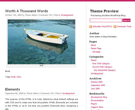 Less Is More: 40 Free, Minimal And Clean Wordpress Themes 29