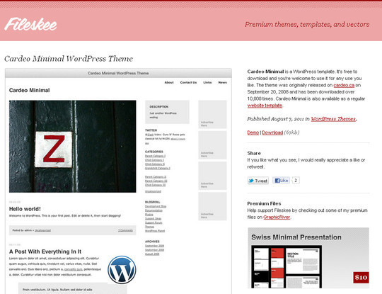Less Is More: 40 Free, Minimal And Clean Wordpress Themes 2
