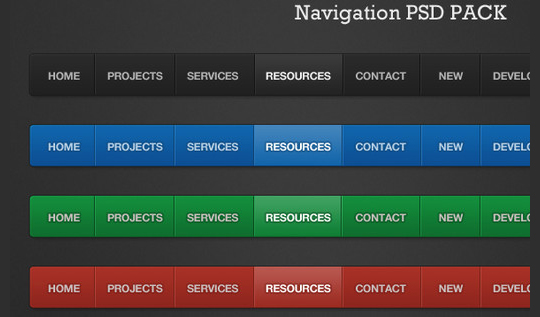 20 Free Navigation Menu PSD's 14