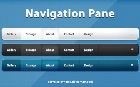 20 Free Navigation Menu PSD's 4