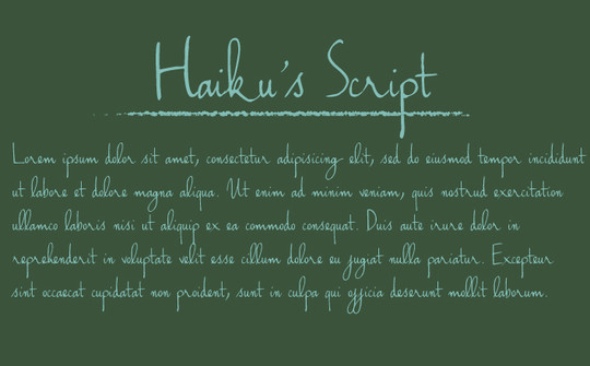 11 Useful And FREE Script Fonts For Your Design 11