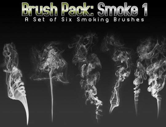 15 Free Abstract Smoke Brushes 11