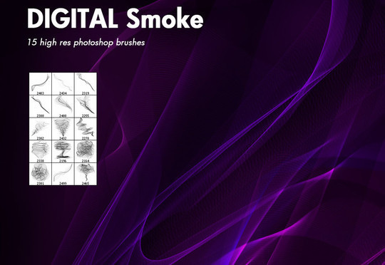 15 Free Abstract Smoke Brushes 13