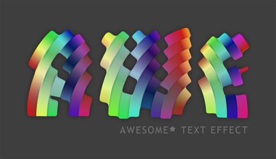 50 Photoshop And Illustrator Tutorials For Creating Text Effect 36
