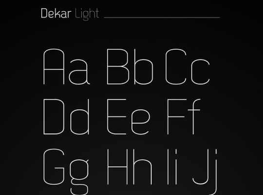 Massive Collection Of Free Thin Fonts To Download 14