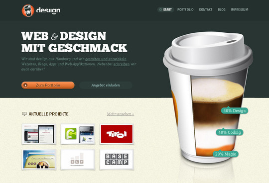 45 Examples Of Websites Designed With HTML5 4