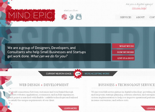 45 Examples Of Websites Designed With HTML5 33