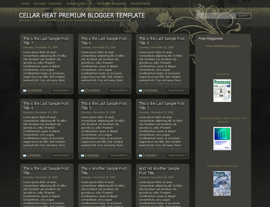 45+ Beautiful Blogger Templates Free To Use 26