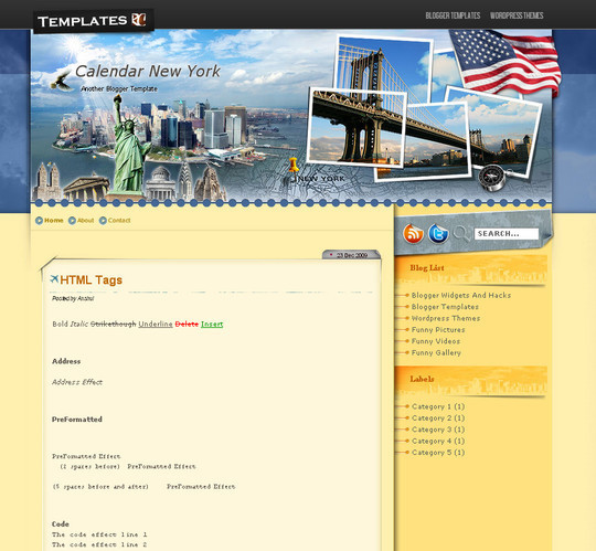 45+ Beautiful Blogger Templates Free To Use 1
