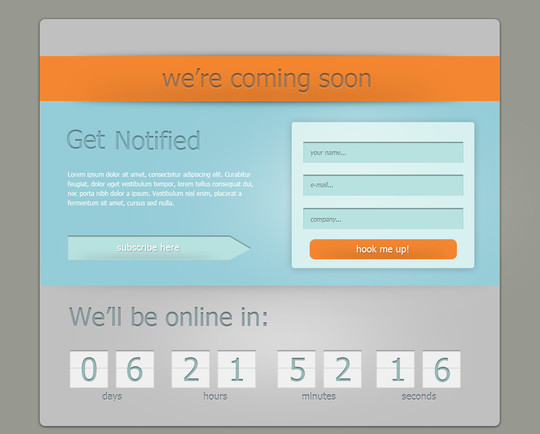 40 Creative Examples Of Coming Soon Page Design 34