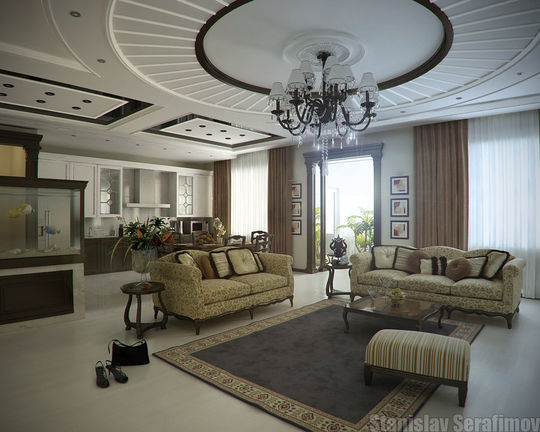 Showcase Of 3D Interior Design Imagination Rendered 6