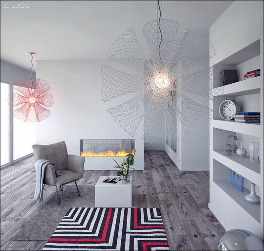 Showcase Of 3D Interior Design Imagination Rendered 9